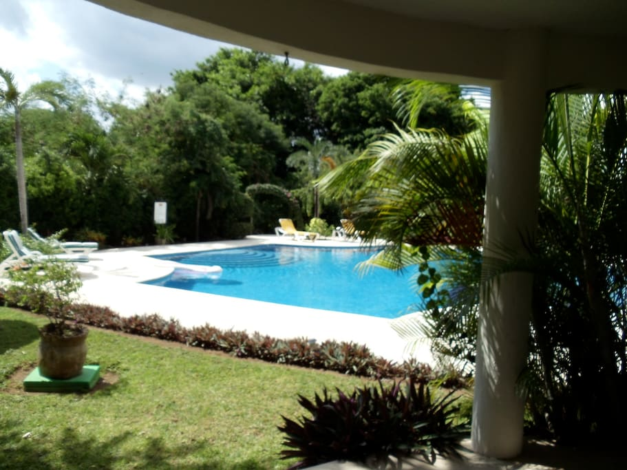 The condo is situated on the ground floor with easy access to the pool.
