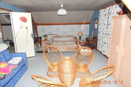 loue chambre très spatieuse, balcon - Orgères-en-Beauce - 独立屋