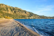 Enjoy your swim in the beautiful cibeach of Kalmata (600m)
