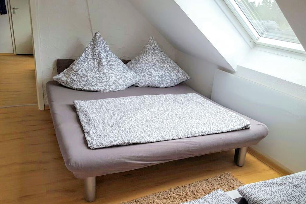 Wohn-/Schlafraum Nr. 1 mit Schlafsofa für 2 Personen