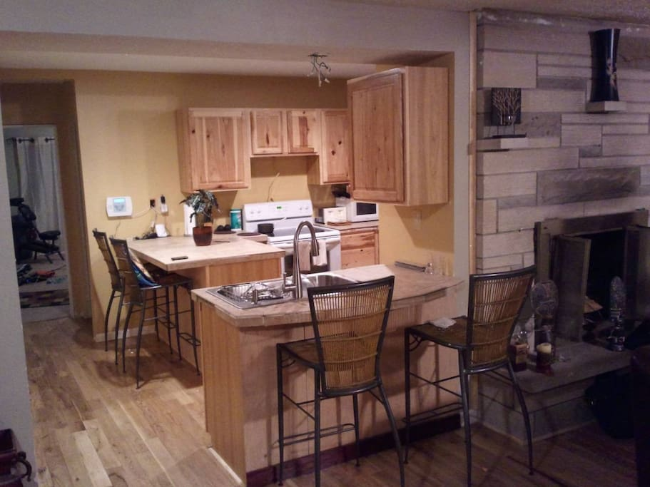 View of Kitchen from dining room.