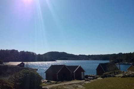 House/cabin and boat at Spindfjord - Farsund - House