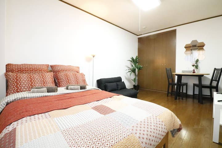 Great location room,5min walk from Kyoto sta!/M2
