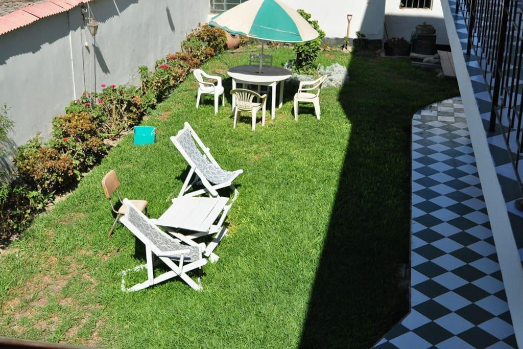 Vista al jardín interior