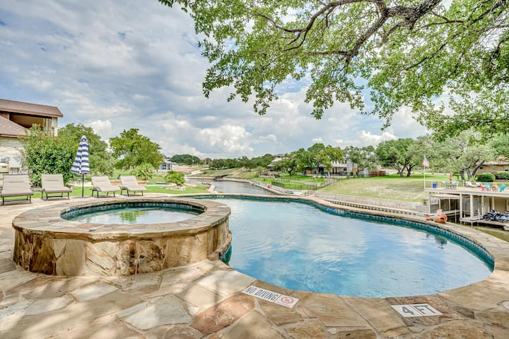 Waterfront Home on Canal w/Pool - Lake LBJ Access