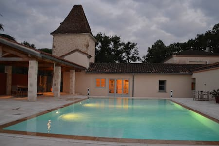 Charming house with heated pool - Castéra-Verduzan - Huis