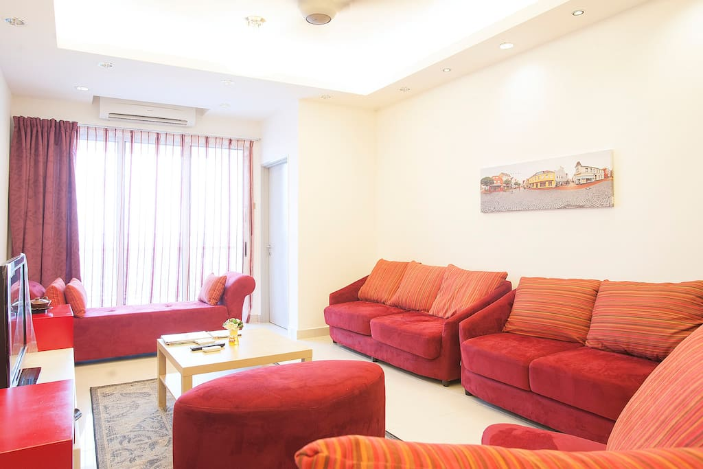 Spacious and comfortable lounge