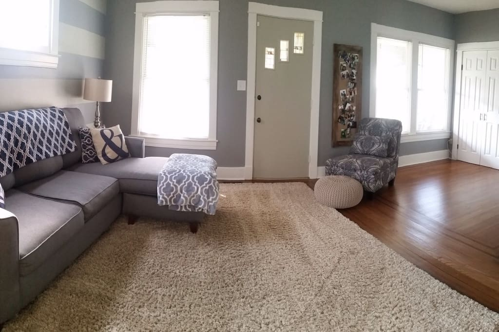 Living room also has space to put air mattress for extra sleeping.
