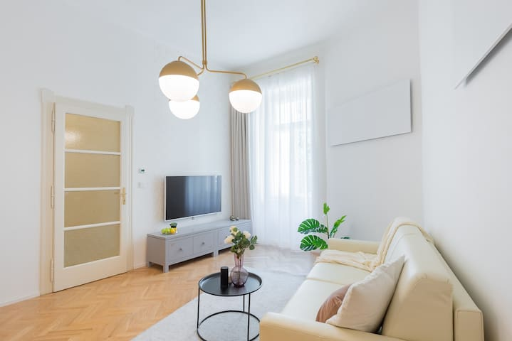 After long exploring of Prague, enjoy TV or books provided  in the apartment.:)
