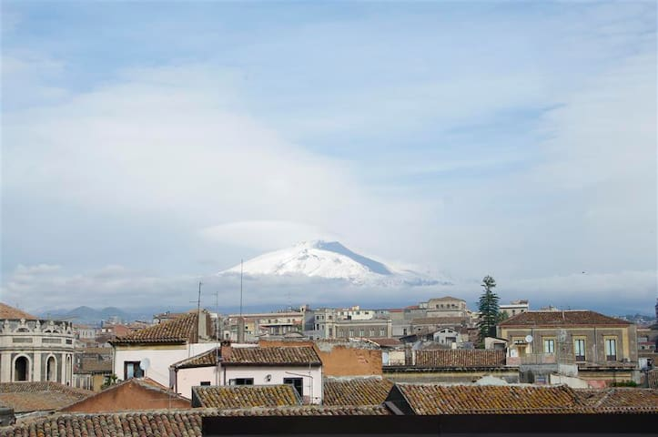 etna view from the 2ns roof terrace