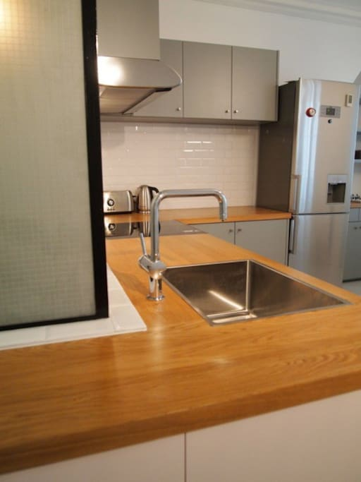 a practical designed solid wood kitchen