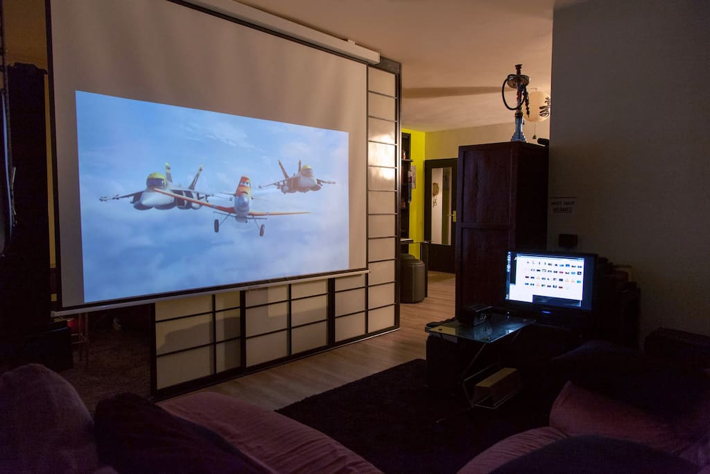 Enjoy Home Cinema!  as weather in Paris is not always fun :P