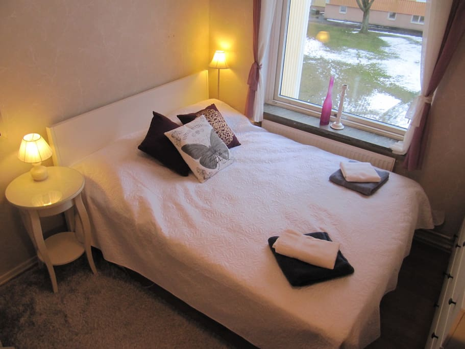 With a very comfortable double bed