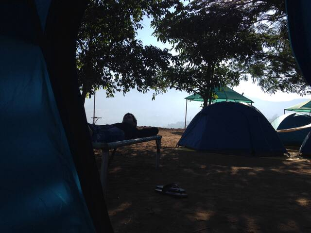 Camping near Pawna lake close to Lonavala
