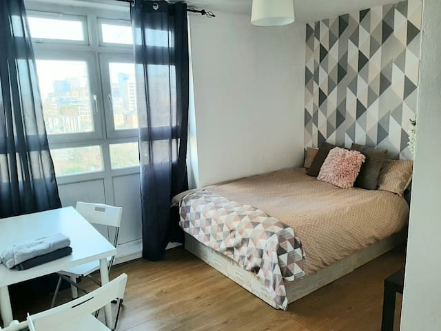 Cosy double (5)-near Canary Wharf, DLR Leo Rd.