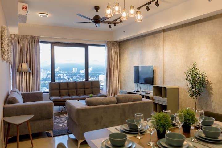 Million Luxury 3Br Condo 10Pax, Georgetown 百万豪华公寓