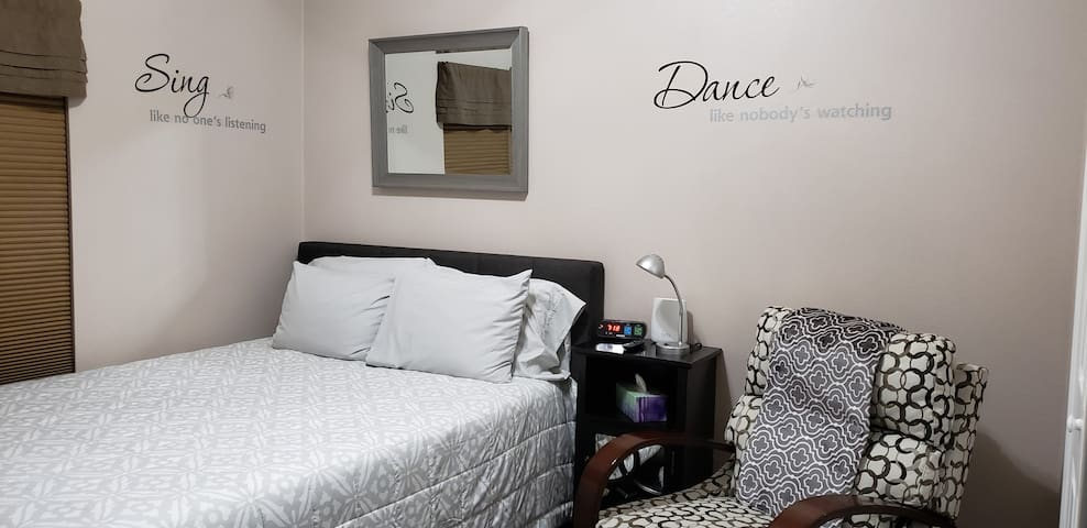 Private Room #1 with Queen Size Bed (Shared Bath)