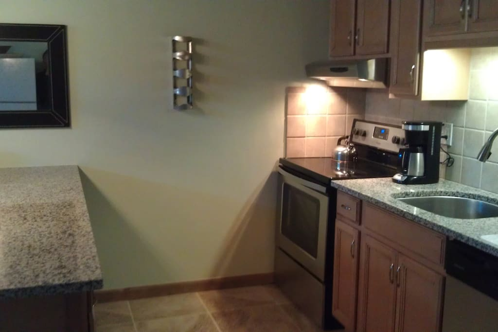 Renovated kitchen has everything you'll need.