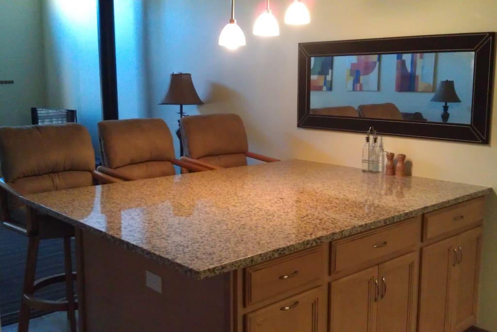 Granite countertops throughout.