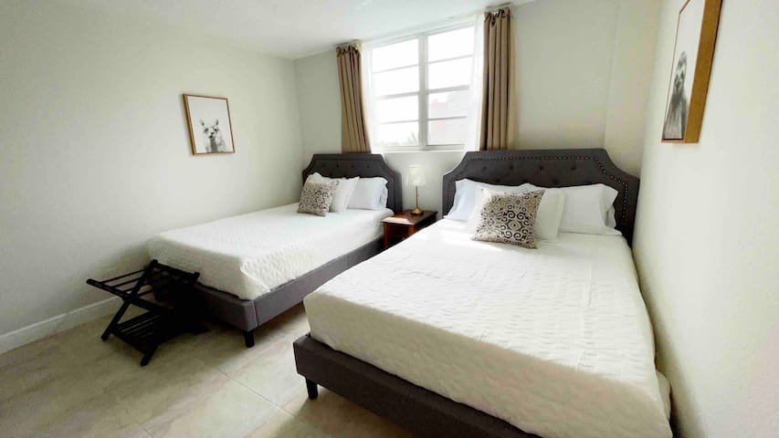 Two super comfy Queen size beds