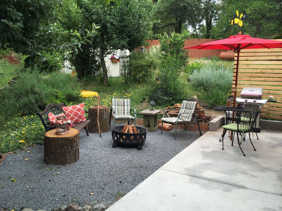 Enjoy a fire in the firepit along with some Smores!