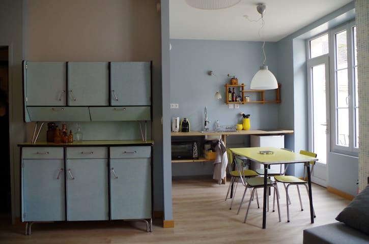 T2 esprit vintage, cœur de ville - Sens - Apartment