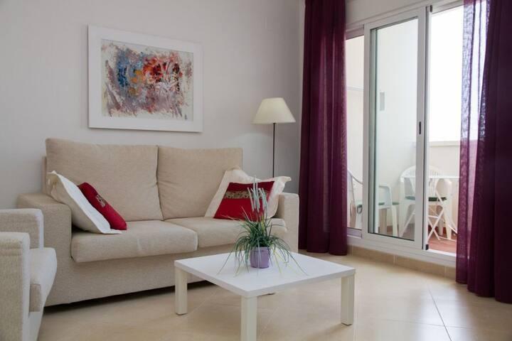 Casita del Golf, (Orihuela), Appartement, 55qm, Garten- und Poolbenutzung, 1 Schlafzimmer, max. 2 Personen