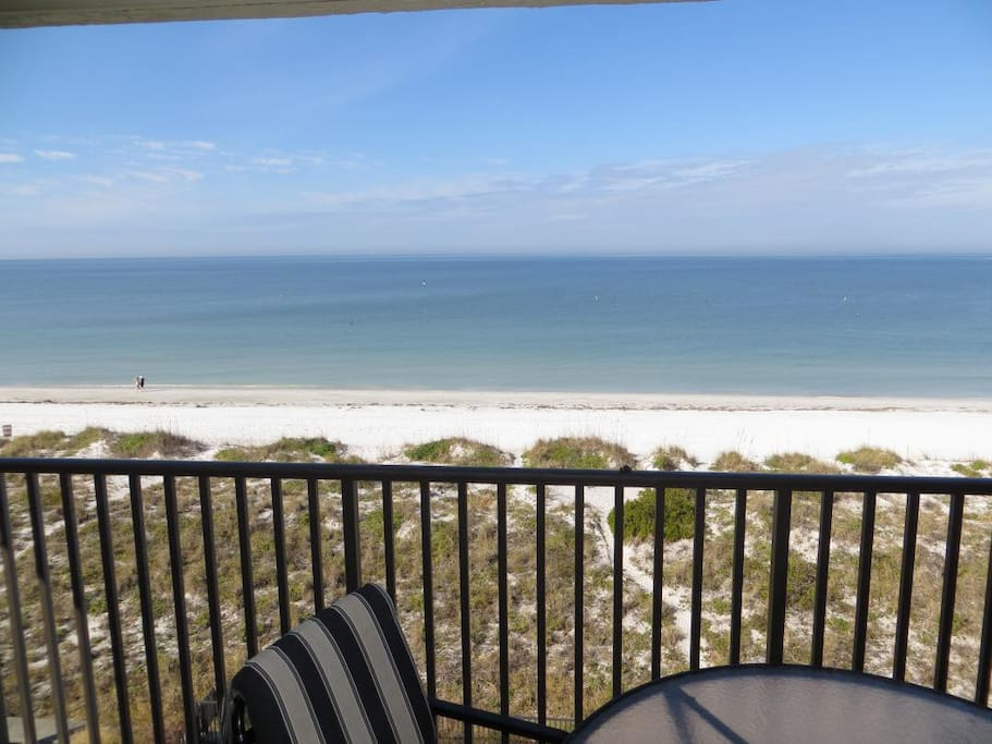 Balcony View looking out over beach