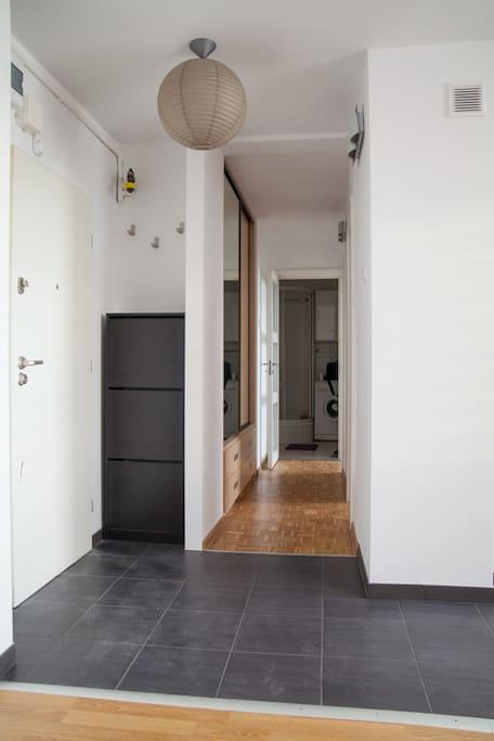 Front door and hall