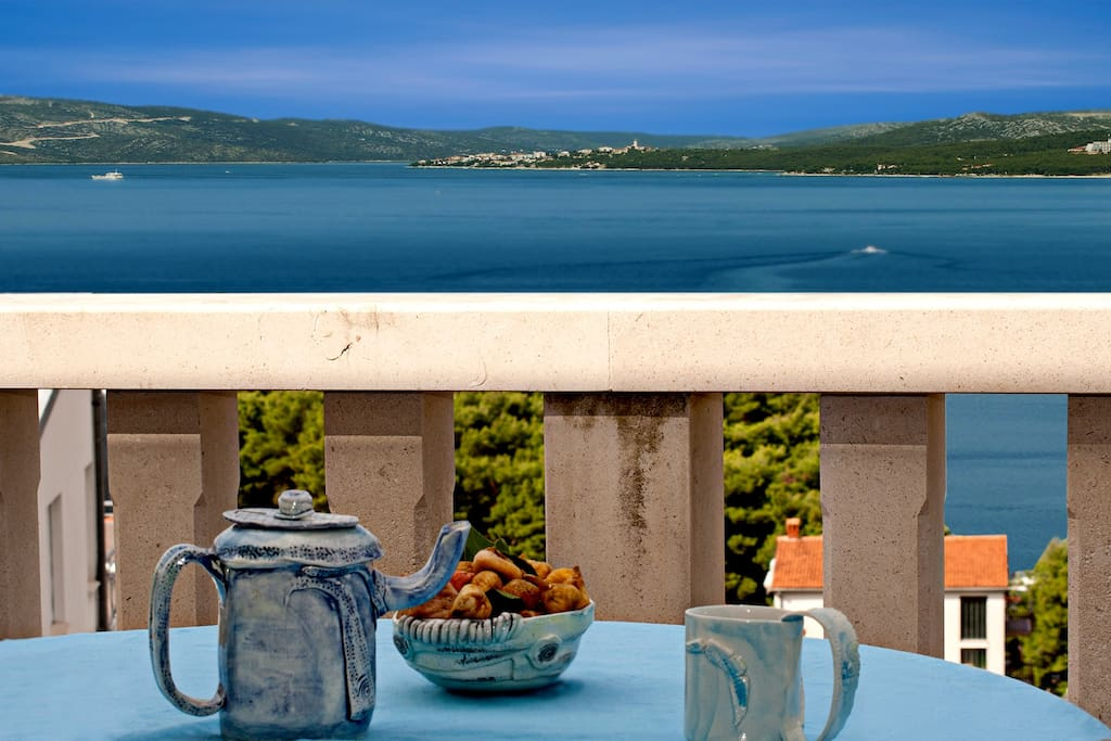 Stunning sea views from terraces of the apartments