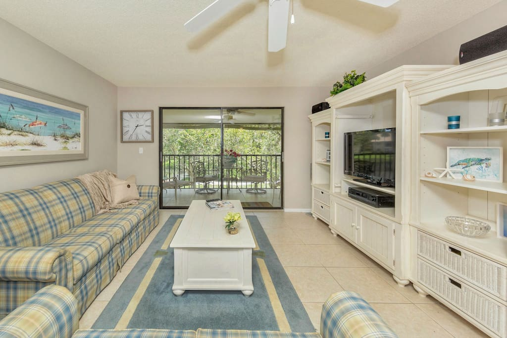 Family Room leads to back patio.