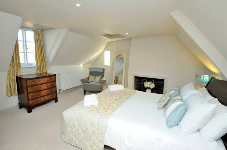 The master bedroom on the top floor