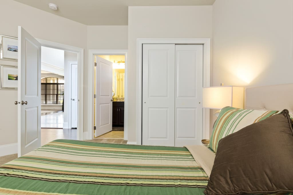 Your room is conveniently located on the ground floor right off of the foyer