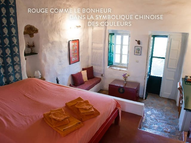 Leros : Psilalonia : Chambre Rouge - Leros - Bed & Breakfast