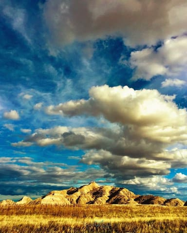 The Badlands 1 hour drive from studio