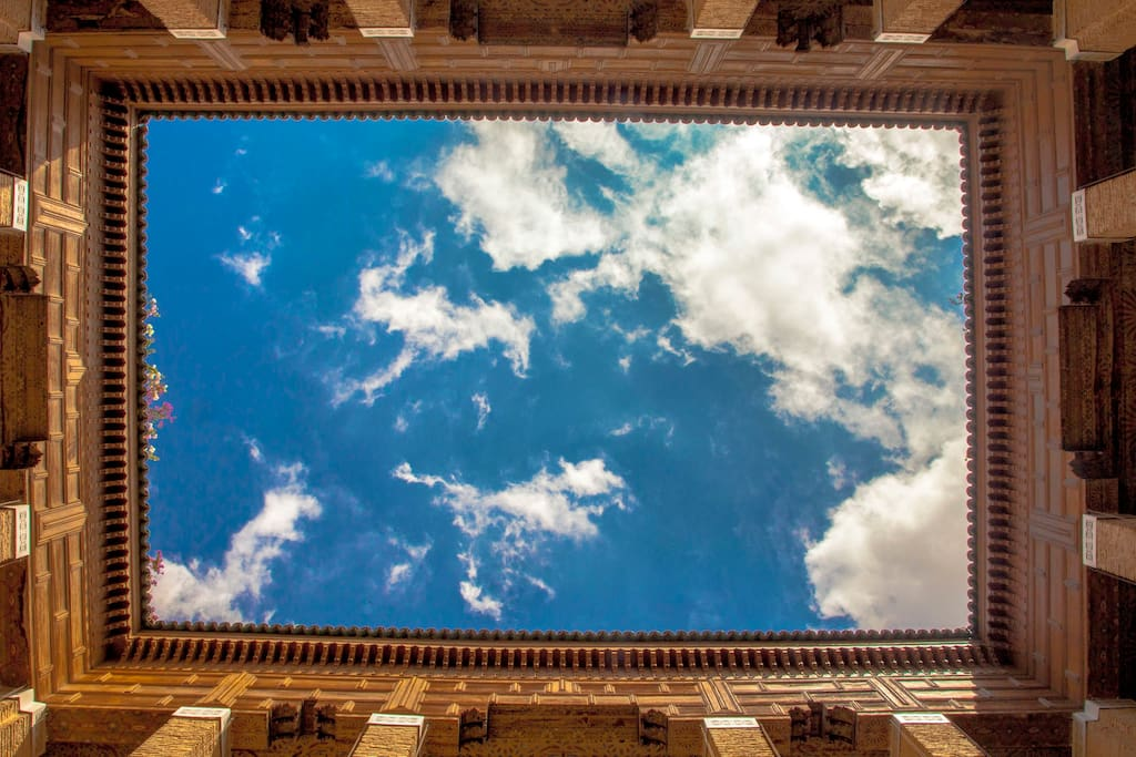 17 centuries of History with a rectangle of blue sky above your head