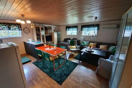 Koselig familievennlig leilighet på Fevik