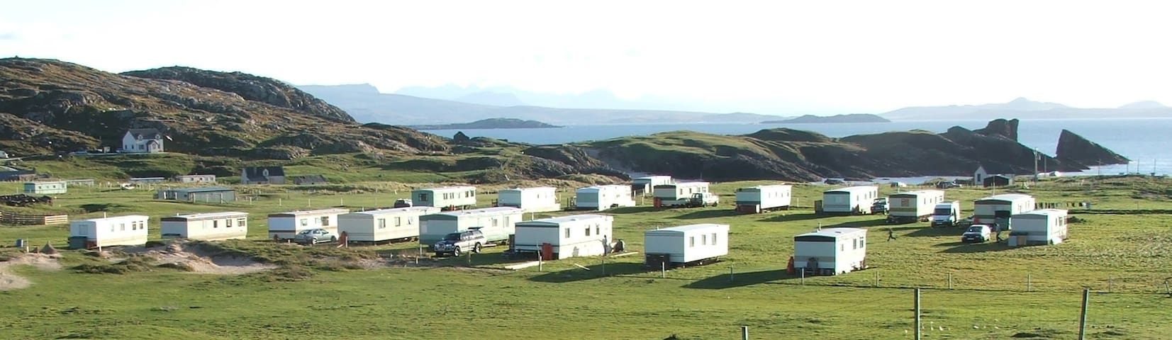 Clachtoll Holidays. Swift caravan