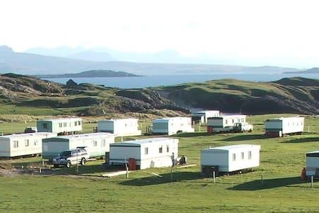Clachtoll Holidays. Rio caravan