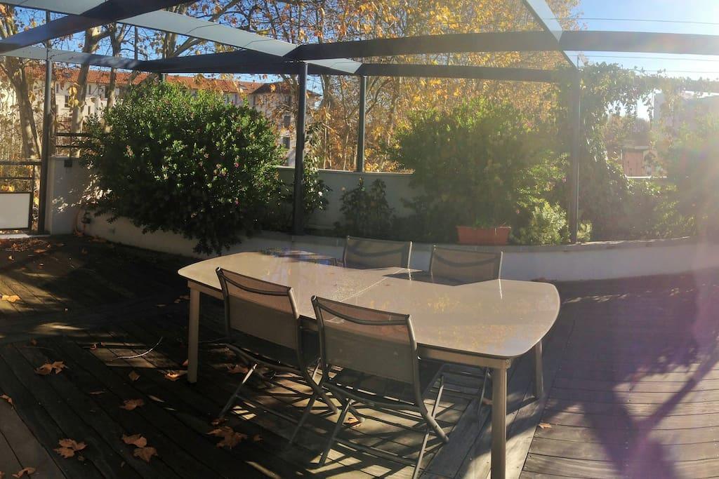 terrasse (morceau d'un panorama)