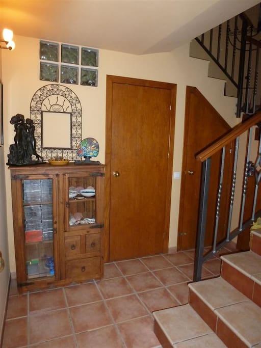 Eingang unten mit WC