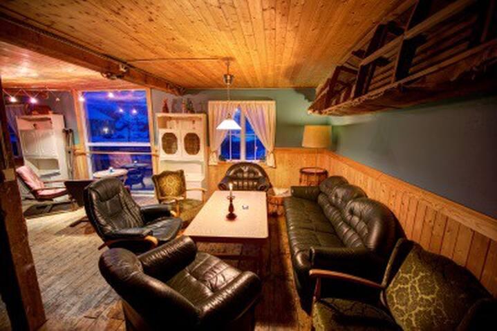 The living-room in Holmvik Brygge