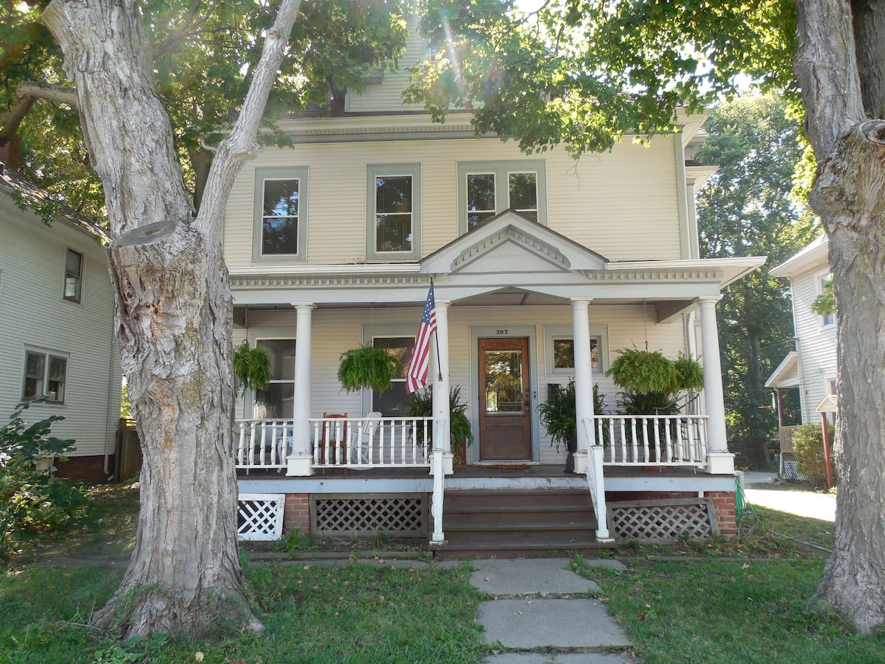 Front View of House & Large Front porch