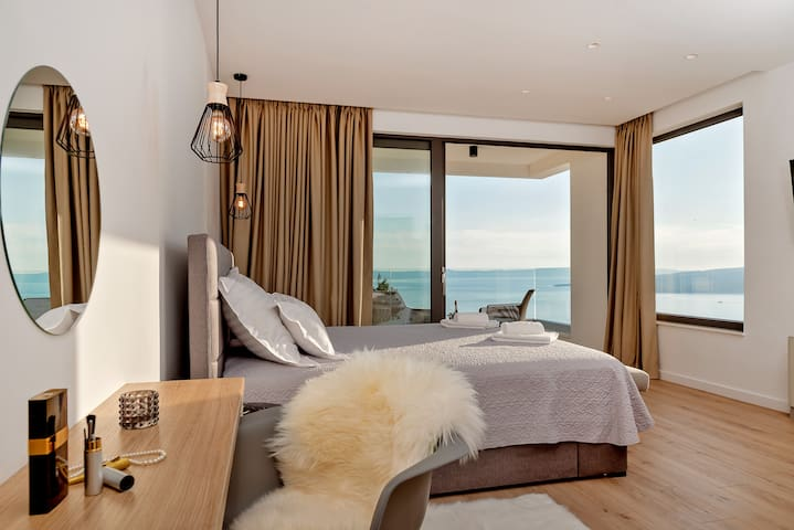Villa Bellevue Bast - good morning from master bedroom - the view is everything