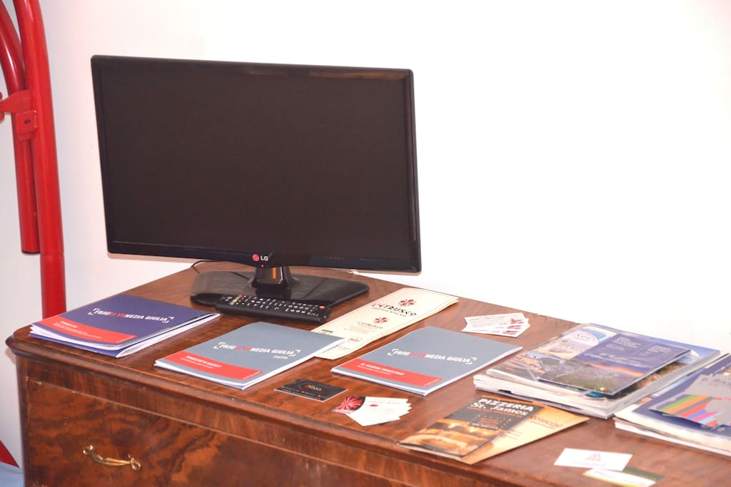 Brochures and maps are provided for all our guests