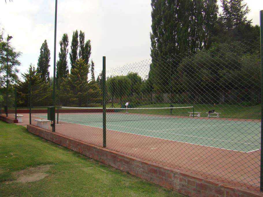 Cancha de tenis rápida.