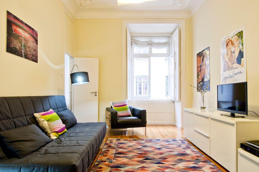 Baixa modern flat wifi appartements louer lisboa for Louer une chambre sans fenetre