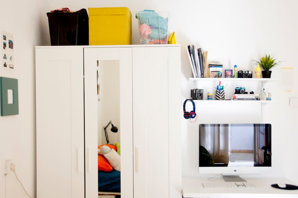 Closet and working space