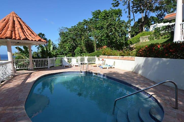 Blue skies and cool pool
