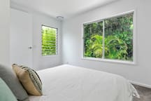 Bedroom 2 with lovely rainforest like back drop